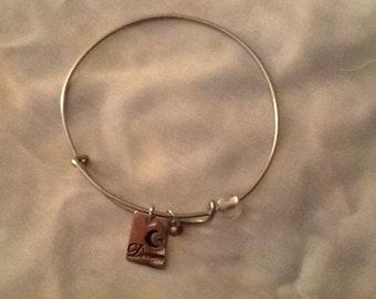 Adjustable Stainless Steel Charm Bracelet