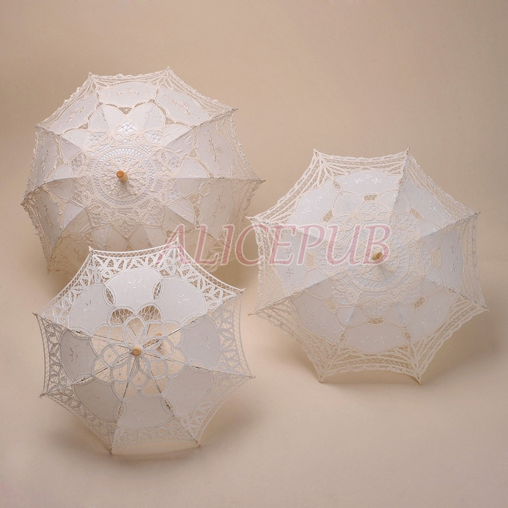Wedding parasol umbrella bridal shower umbrella by alicepub for Decor umbrellas