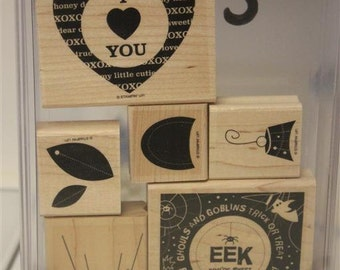 Stampin' Up! Retired Sweet Centers wood mounted