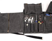 Tool Roll - Waxed Canvas,  Motorcycle Accessories, Tools