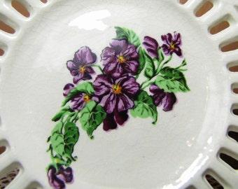 Vintage Decorative Lattice Plates