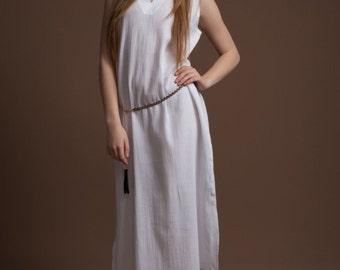 Long Slit Dress, Summer Fashion, 100 % Cotton