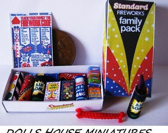 BOX OF Dollhouse none working model FIREWORKS