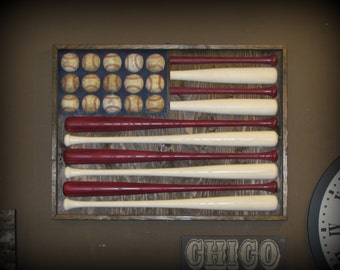 Baseball Bat American Flag