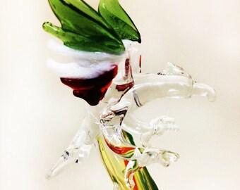 Patriotic Mexico Eagle Glass Pen -  Ballpoint