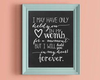 In memory of Miscarriage ... forever in my heart 8x10 Poster Print