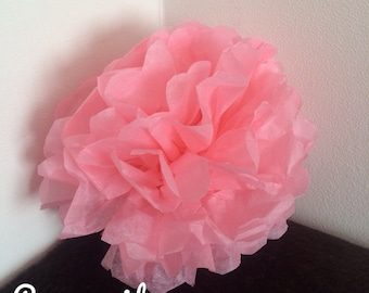 Pack of 2 PomPoms in pink tissue paper