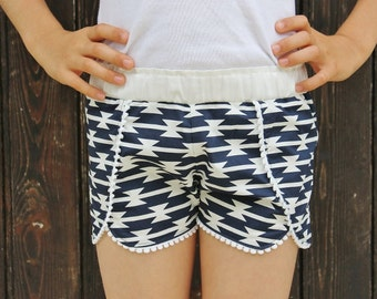 Coachella Shorts PDF Sewing Pattern ... Sizes 6mos-12yrs