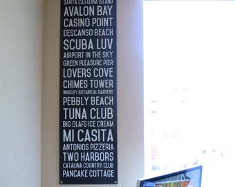 Catalina Island Subway Canvas Banner