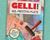 Gelli Arts Printing Plate 8x10 inches for monoprinting and spontaneous creative play