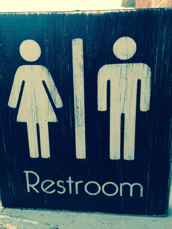 Ladies Gentlemen Joint Restroom Wood Sign By Tinastinkers