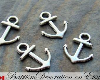Anchor. Anchor Charm. Lot of 5. Silver Anchor. Tibetan Silver. Pendant. Marine. Anchor Bracelet Charm. For Charm Bracelet. Navy. Marines.