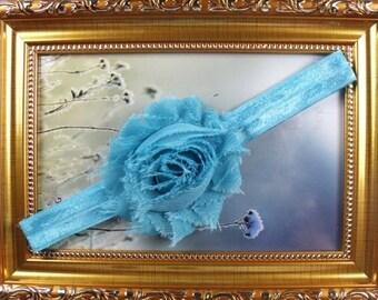 Blue chiffon headband
