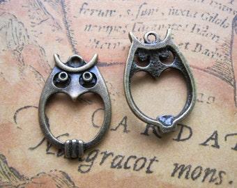 10pcs 16x22mm Owl Charms Handmade Jewelry Pendants Accessories M