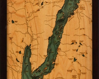 Wood Chart of Lake George, New York,  13.5x43 - Narrow