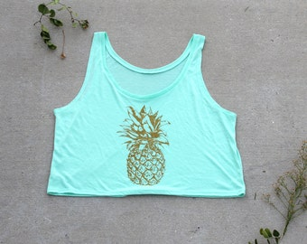 Pineapple - Ladies Tank - Crop Top