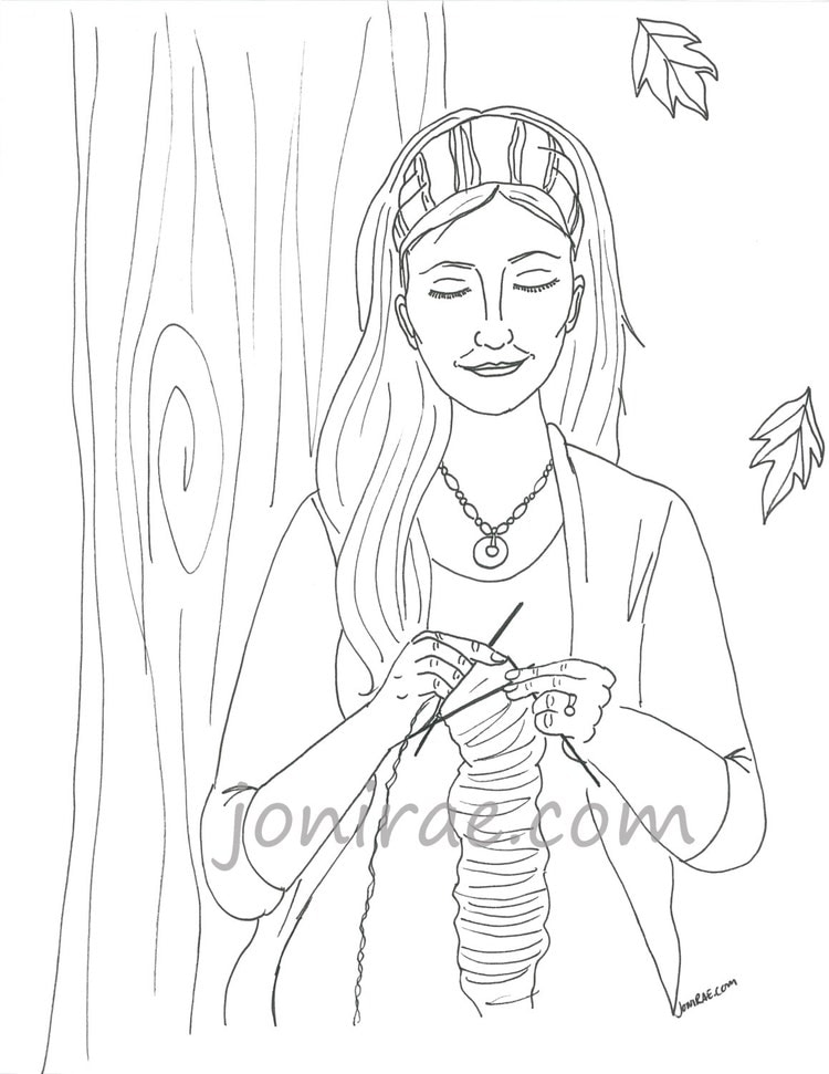 mabon pdf coloring book by lillianapress on etsy