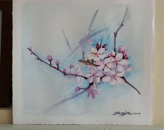 Plum Flower in Early Spring 11x11in