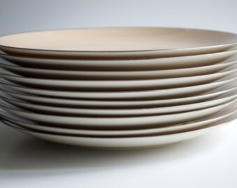 Franciscan Fine China Gladding McBean & Co. Sandalwood Dinner Plates 8