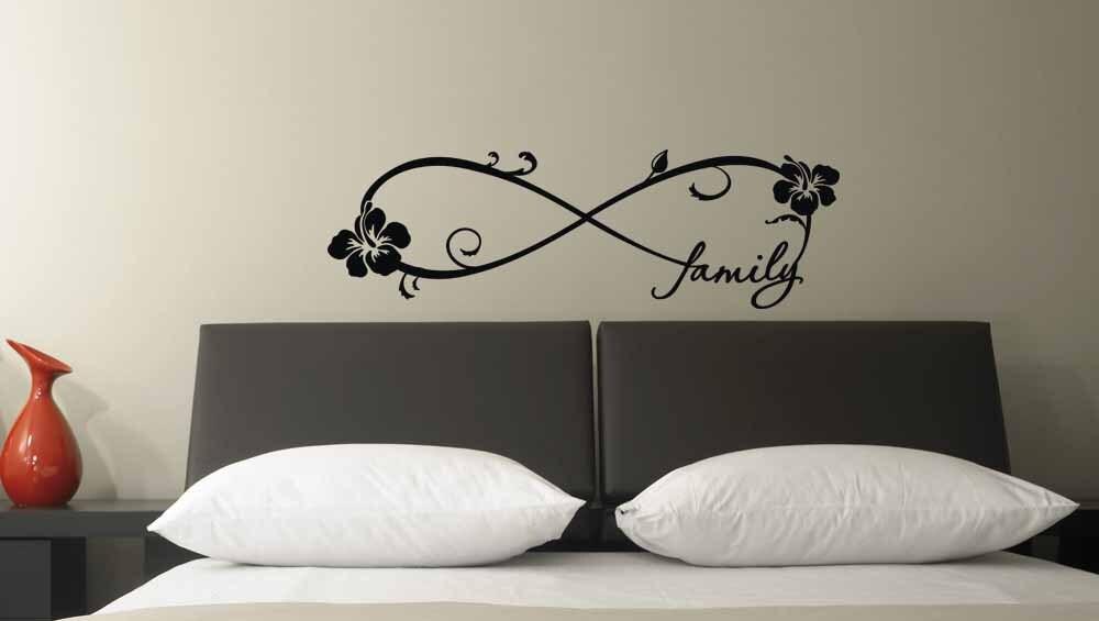 hibiskus familie f r immer unendlich symbol vinyl wall decal. Black Bedroom Furniture Sets. Home Design Ideas
