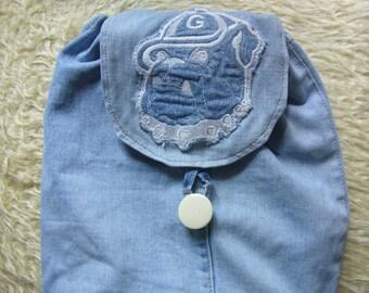 Denim backpack/Resycled Denim Bag / Denim Purse / Shoulder bag/Shoping bag