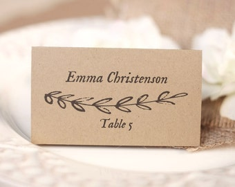 Wedding Place Card and Escort Card, (Foldover Tent and Flat), get both templates - DOWNLOAD Instantly - Editable - Rustic Branch, VW15
