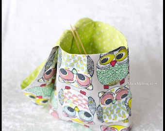 Knitting Project Bag, Knitting Bag or Project Bag, Crochet bag, Crochet Project bag, Yarn bag, Reversible bag