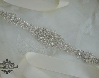 Mia, Bridal Sash, Bridal Belt, Wedding Sash, Wedding Dress Sash, Wedding Dress Belt, Wedding Belt, Vintage Wedding, UK Bridal Sash