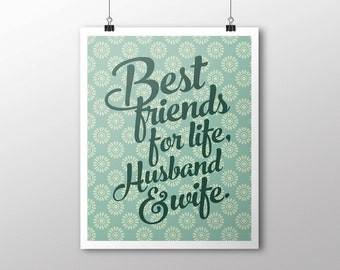 INSTANT DOWNLOAD Husband and Wife Digital Download Print