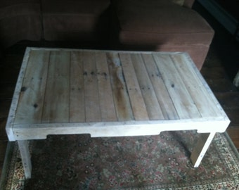 Primitive Coffee Table, Rustic Coffee Table, Handmade Reclaimed Coffee Table, Country Decor, Primitive Furniture, Handmade Furniture