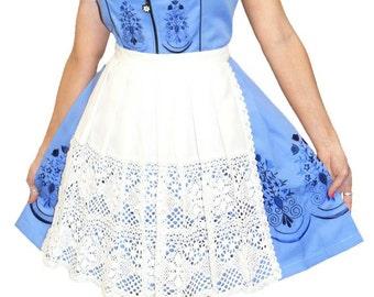 3-Piece Short Blue German Dirndl Dress 2 4 8 10 12 14 16 18 20 22 XS S M L XL