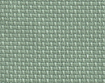 Celadon Green 14 count Aida Cross Stitch Fabric woven by Zweigart