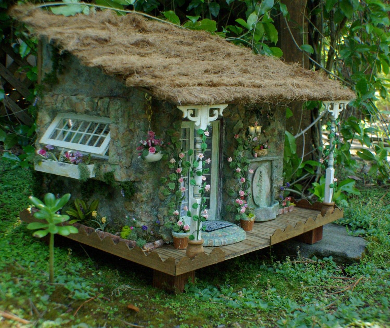 English Cottage Village: English Cottage Miniature Dollhouse Faerie By