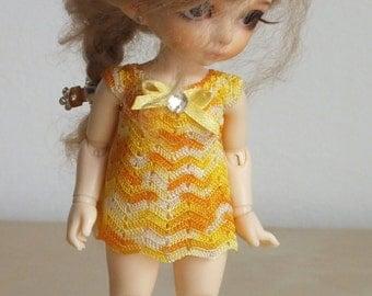 Yellow melange dress for PukiFee