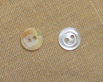 100 vintage shell buttons
