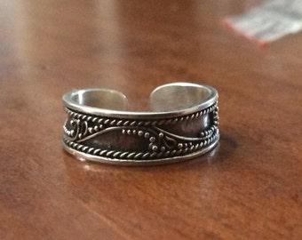 Handmade Sterling Silver Balinese Toe Ring