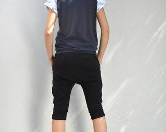 Short harem pants/ oriental pants/ harem pants/ black harem pants/drop crotch pants.