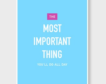 "Most Important -  Lactation Poster 11x14"""