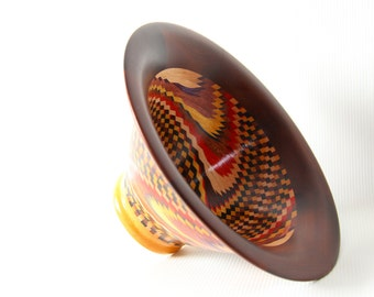 Custom made specified by customer, segmented, decorative, wood bowl.