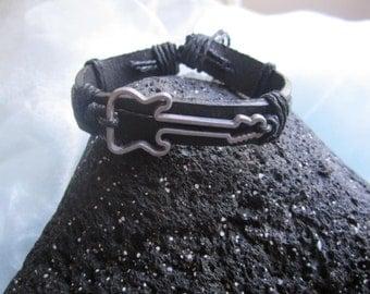 Leather Guitar Bracelet
