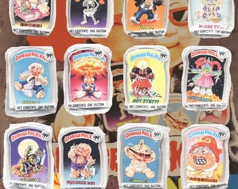 Garbage Pail Kids Buttons Complete Unopened Set Series 1 1986