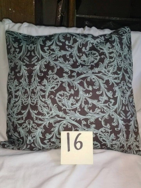 Throw pillow covers 16 x 16 washable removable by BellsPillows