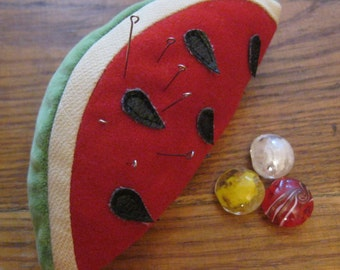 Watermelon, Pin cushion,Red,Green,Sewing Accessories