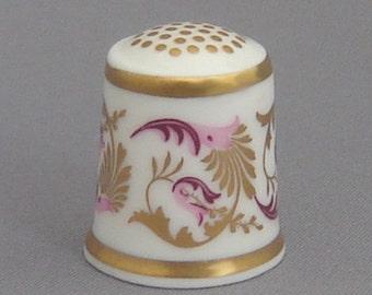 Royal Crown Derby Thimble - Purple Scroll