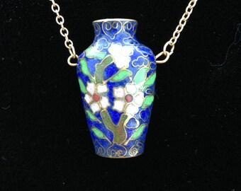 Cloisonne Vase Pendant