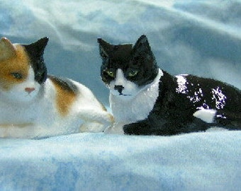 Miniature Cat Figurines