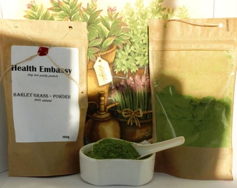 Barley grass powder 100% Natural - Health Embassy - Organic