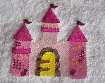 Personalised embroidered Princess Palace bath towel (100% cotton)