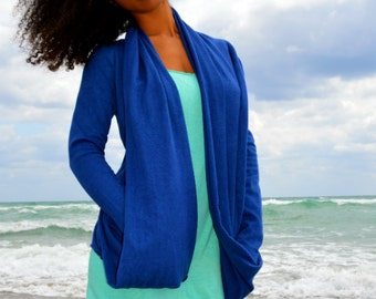 The  Southernmost point Cardigan. Organic cotton hemp. Made to order.
