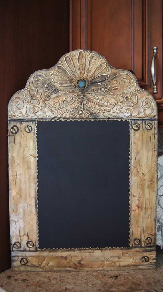 Items Similar To The Barcelona Decorative Kitchen Chalkboard Rustic Old World Style